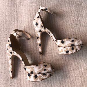 Zara basic leopard print heels